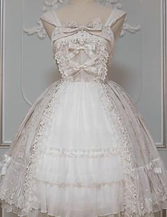 billiga Lolitamode-Söt Lolita Klassisk / Traditionell Lolita Klassisk Vintage Ruffle Dress Dam Klänningar Cosplay Brun / Grön / Blå Klocka Långärmad Midi Kostymer