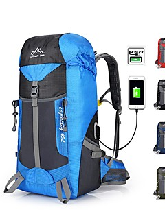 billiga Ryggsäckar och väskor-45 L Ryggsäckar - Regnsäker, Snabb tork, Bärbar Utomhus Camping, Resor Nylon Blå, Vinröd, Mörk Marin