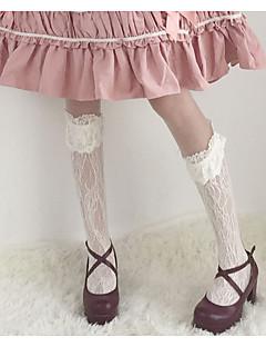 billiga Lolitaaccessoarer-Strumpor / Strumpbyxor Söt Lolita Dam Vit / Svart Spets Strumpor Spets Kostymer
