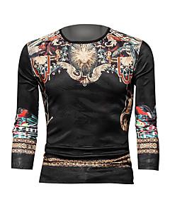 tanie Miesten hupparit ja collegepuserot-sportowa męska bluza z długim rękawem slim - kolor okrągły dekolt