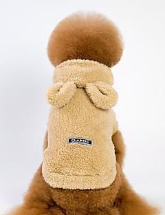 billiga Hundkläder-Hund / Katt Huvtröjor / Tröja Hundkläder Enfärgad Grå / Brun / Rosa Velour / Manchester Kostym För husdjur Unisex Ledigt / vardag / Uppvärmning