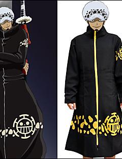 """billige Anime cosplay-Inspirert av One Piece Trafalgar Law Anime  """"Cosplay-kostymer"""" Cosplay Klær Trykt mønster Langermet Frakk Til Herre / Dame Halloween-kostymer"""