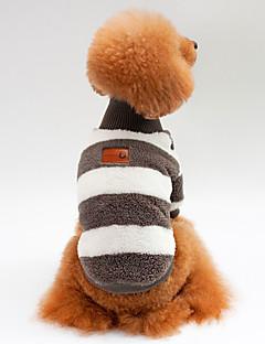billiga Hundkläder-Hund / Katt Tröja Hundkläder Randig Blå / Rosa / Svart 100% Korall Fleece Kostym För husdjur Unisex Sport och utomhus / Ledigt / vardag