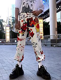 Χαμηλού Κόστους Chinos-Ανδρικά Κομψό στυλ street Chinos Παντελόνι Φλοράλ