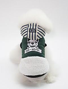 billiga Hundkläder-Hund Kappor Hundkläder Figur / Brittisk Gul / Grön / Rosa Cotton Kostym För husdjur Unisex Ledigt / vardag / Uppvärmning