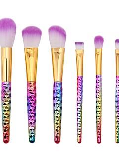 billiga Sminkborstar-6 delar Makeupborstar Professionell Rougeborste / Ögonskuggsborste / Läppensel Nylon fiber Fullständig Täckning