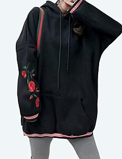 Χαμηλού Κόστους Μακριά φούτερ με κουκούλα-γυναικείο μακρύ μανίκι hoodie - συμπαγής με κουκούλα