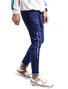 billige Herrebukser og -shorts-Herre Grunnleggende / Gatemote Jeans / Chinos Bukser Ensfarget / Bokstaver