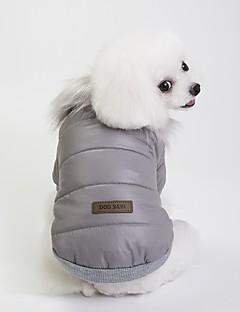 billiga Hundkläder-Hund Kappor Hundkläder Brittisk Grå / Röd / Blå Terylen Kostym För husdjur Unisex Ledigt / vardag / Uppvärmning