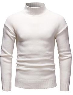tanie Męskie swetry i swetry rozpinane-Sweter męski z długimi rękawami - jednolity golf