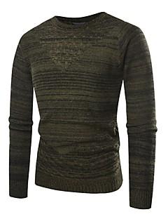 baratos Suéteres & Cardigans Masculinos-Homens Básico Pulôver - Sólido, Detalhes em Pêlo
