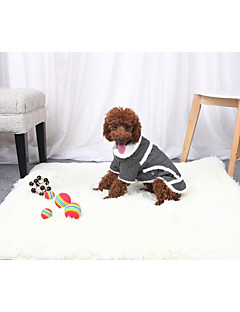 billiga Hundkläder-Hund / Katt Jakke Hundkläder Enfärgad Grå / Brun Bomullstyg / Flanelltyg / Cotton Kostym För husdjur Unisex Uppvärmning / minimalist