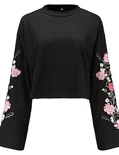 tanie Damskie bluzy z kapturem-Damskie Moda miejska Bluza dresowa - Kwiaty