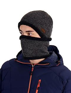 tanie Odzież turystyczna-VEPEAL Czapka turystyczna Ochraniacze na szyję Czapka Skull Caps Odporność na wiatr Zatrzymujący ciepło Elastyczny Zima Ciemnoszary Unisex Narciarstwo Piesze wycieczki Ćwiczenia na zewnątrz Patchwork