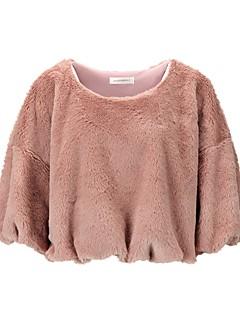 tanie Damskie bluzy z kapturem-Damskie Aktywny / Moda miejska Bluza dresowa - Solidne kolory