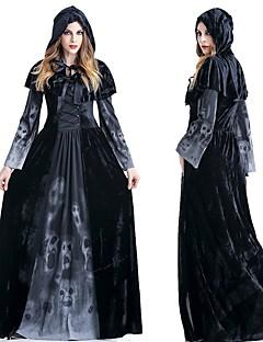 Χαμηλού Κόστους Κοστούμια για Ενήλικες-Μάγος Διαβολάκι Φορέματα Στολές Ηρώων Χορός μεταμφιεσμένων Γυναικεία Ενηλίκων Φρίκης Halloween Halloween Γιορτές / Διακοπές Κοστούμια Halloween Στολές Μαύρο Νεκροκεφαλές Halloween