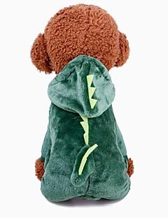 billiga Hundkläder-Hund Dräkter / Kostymer Hundkläder Enfärgad Grön 100% Korall Fleece / Cotton Kostym För husdjur Herr / Dam Cosplay / Uppvärmning