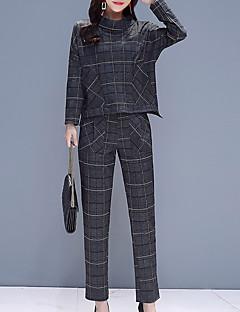 abordables Colecciones de Diseño-Mujer Básico / Chic de Calle Conjunto - Geométrico, Estampado Pantalón