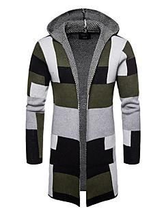 tanie Męskie swetry i swetry rozpinane-Męskie Aktywny / Podstawowy Sweter rozpinany Kolorowy blok