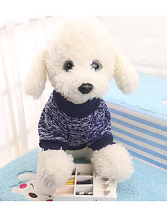 billiga Hundkläder-Hund / Katt Tröja Hundkläder Färgblock / Enkel Mörkblå Textil Kostym För husdjur Unisex Vanlig / Fritid