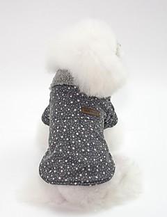 billiga Hundkläder-Hund Kappor Hundkläder Enkel / Brittisk Grå / Rosa Cotton Kostym För husdjur Unisex Japansk och Koreansk Stil / Uppvärmning