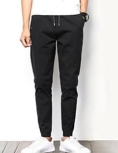 billige Herrebukser og -shorts-menns bomullsløse chinos / joggesko bukser - solid farget