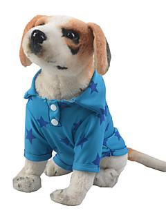 billiga Hundkläder-Hund / Katt T-shirt Hundkläder Stjärnor Gul / Röd / Blå Polyester / Bomull Blandning Kostym För husdjur Herr Fritid