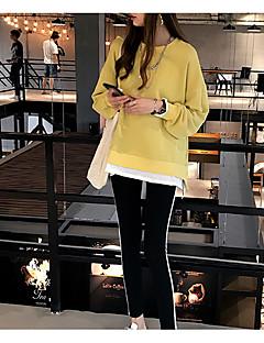 tanie Damskie bluzy z kapturem-Damskie Moda miejska Bluza dresowa - Solidne kolory