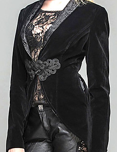 cheap Steampunk-Plague Doctor Steampunk Costume Women's Coat Black / Red black Vintage Cosplay Polyster Long Sleeve