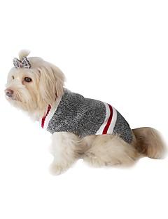 billiga Hundkläder-Hund / Katt Tröjor Hundkläder Vintage / Lolita Grå / Röd Chinlon / Polyester / Bomull Blandning Kostym För husdjur Herr / Dam Ledigt / vardag / Håller värmen