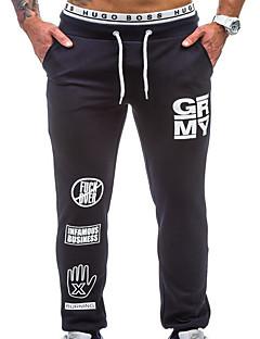 billige Herrebukser og -shorts-Herre Grunnleggende Chinos Bukser Bokstaver