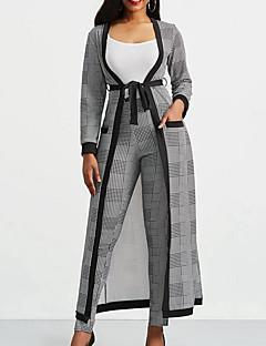 levne Dámské dvoudílné obleky-Dámské Sada Jednobarevné Do V Kalhoty