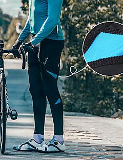 billige Sykkelklær-SANTIC Herre Sykkeltights Sykkel Tights / Bunner Vindtett Ensfarget Elastan Svart / Rød / Svart / Grønn / Svart / Blå Mellemliggende Fjellsykling Formsydd Sykkelklær / Høy Elastisitet