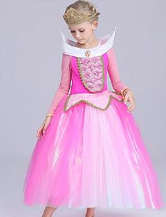 billige Halloweenkostymer-Frozen Kjoler Party-kostyme Flapper Dress Julkjole Jente Barne Prinsesse Lolita Halloween Jul Halloween Barnas Dag Festival / høytid Drakter Rosa Lapper