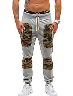billige Herrebukser og -shorts-menns bomullsdraktbukser bukser - kamuflasje / fargeblokk