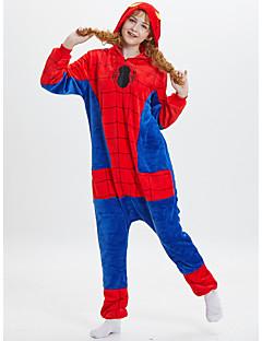 billige Kigurumi-Voksne Kigurumi-pysjamas Anime Spider Onesie-pysjamas polyesterfiber Rød Cosplay Til Damer og Herrer Pysjamas med dyremotiv Tegnefilm Festival / høytid kostymer