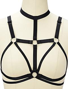 tanie Stylowe damskie płaszcze na zimę-Obuwie damskie Seksowny Akcesoria Na ramiączkach Balkonik - Solidne kolory