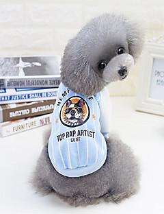 billiga Hundkläder-Hund / Katt Tröja / Baseball Hundkläder Rand / Djur / Tecknat Grön / Blå / Rosa Cotton Kostym För husdjur Unisex Djur / Ledig / Sportig