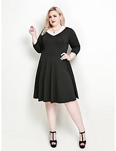 2ac88e4c42f9a Women s Daily Holiday Sophisticated Elegant A Line Little Black Swing Dress  - Solid Colored Color Block V Neck Spring Black XXXXL XXXXXL XXXXXXL