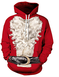 billige Hættetrøjer og sweatshirts til herrer-Herre Basale Hattetrøje - 3D, Blondér