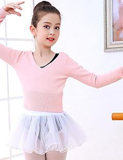 tanie Dziecięca odzież do tańca-Balet Topy Dla dziewczynek Szkolenie / Spektakl Orlon Marszcząca się Długi rękaw Top