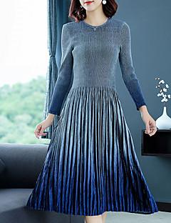 Χαμηλού Κόστους SHYSLILY-Γυναικεία Κομψό στυλ street Λεπτό Παντελόνι Σκούρο γκρι