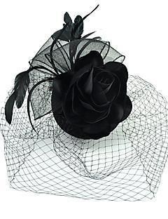billiga Lolitaaccessoarer-Svart svan Dam Flickor Blom Retro / vintage Vintage Tjugotal Huvudbonad hatt Till Maskerad Bal Bankett Hatt Huvudbonad Kostymsmycken