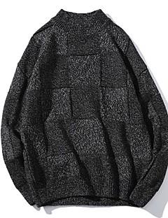 tanie Męskie swetry i swetry rozpinane-Męskie Podstawowy Pulower Kolorowy blok