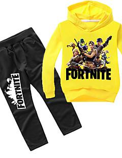 """billige Videospill cosplay-Inspirert av Cosplay Cosplay video Spill  """"Cosplay-kostymer"""" Cosplay Klær Trykt mønster Langermet Topp / Bukser Halloween-kostymer"""