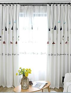 billige Gardiner-gardiner gardiner Barnerom Tegneserie 100% Polyester Trykket
