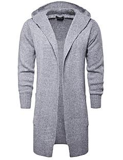 tanie Męskie swetry i swetry rozpinane-Męskie Moda miejska Sweter rozpinany Solidne kolory
