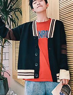 tanie Męskie swetry i swetry rozpinane-Męskie Podstawowy Sweter rozpinany - Patchwork, Solidne kolory