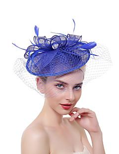 billige Hårpynt til damer-Dame Vintage / Elegant Hårbånd / Hårklemme / fascinator - Netting, Ensfarget