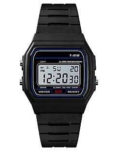billige Digitalure-Herre Sportsur Japansk Digital Sort / Rose 30 m Vandafvisende Alarm Kalender Digital Mode - Sort Rosa / Kronograf / Stopur / Selvlysende i mørke